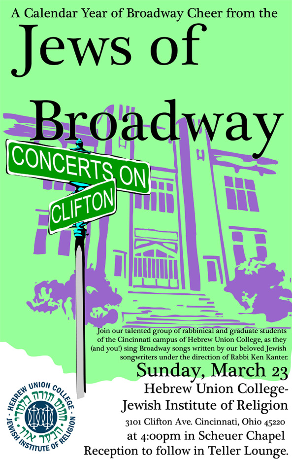 A Calendar Year of Broadway Cheer from the Jews of Broadway - Concerts on Clifton - Sunday, March 23