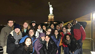 Founders' Fellows at the Statue of Liberty