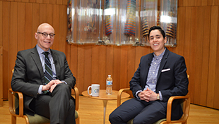 Dr. Andrew Rehfeld and Hilly Haber