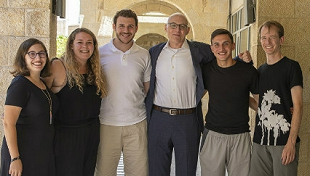 Andrew Rehfeld, Ph.D. and students in Jerusalem